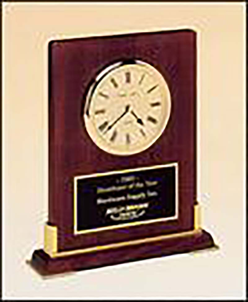Clock award on rosewood - BC899