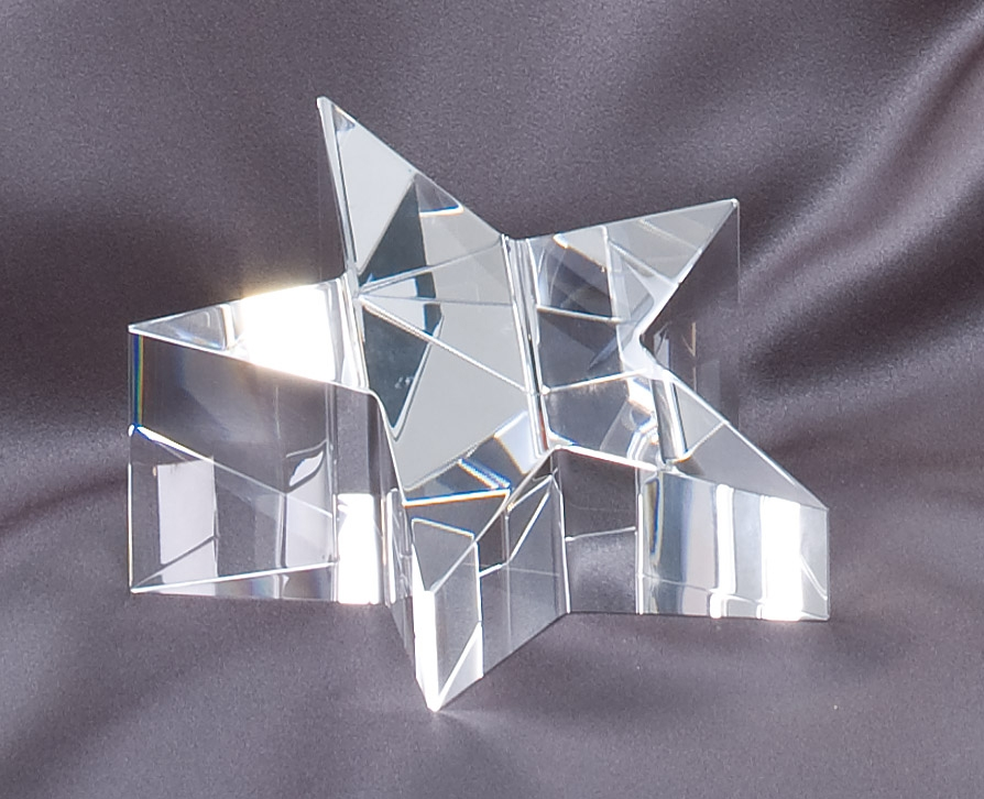 4.25'' x 2'' crystal star paperweight - CRY224