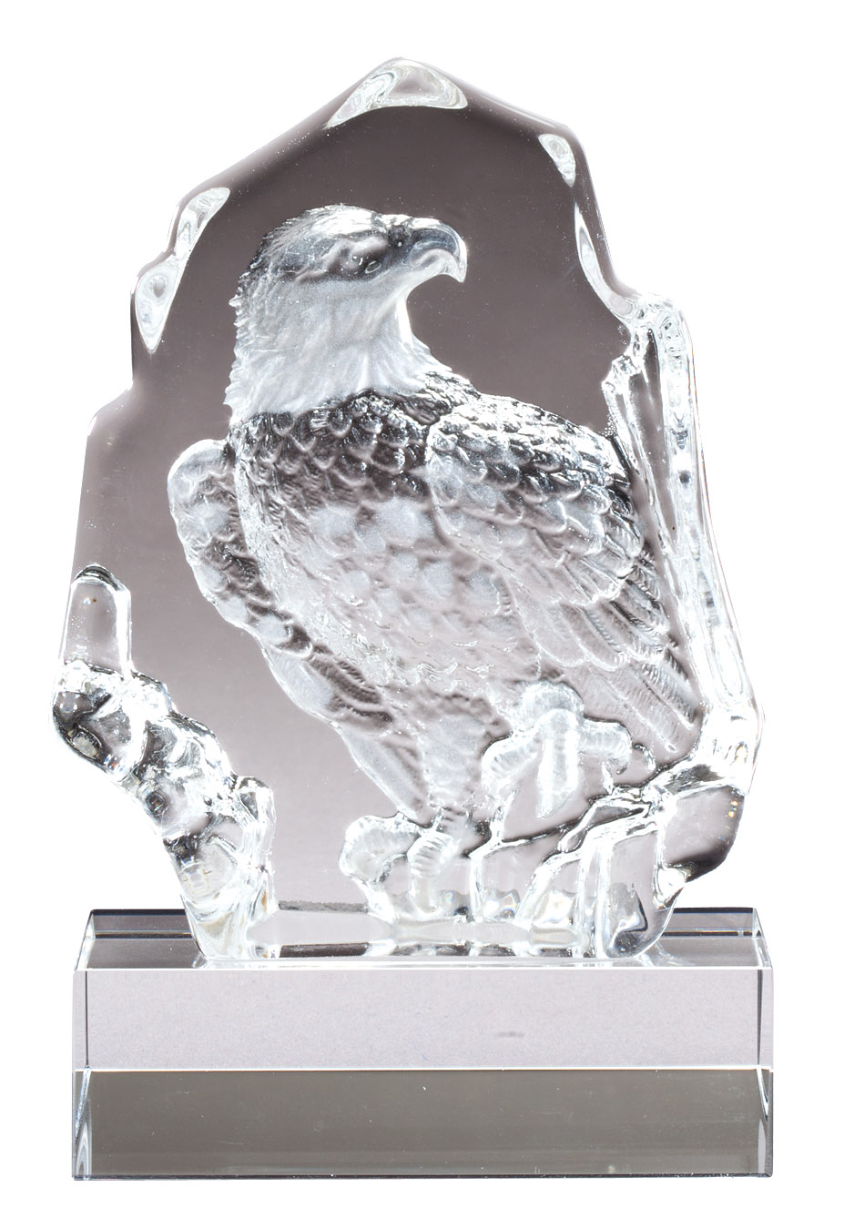 Sculpted crystal eagle award - CRY235