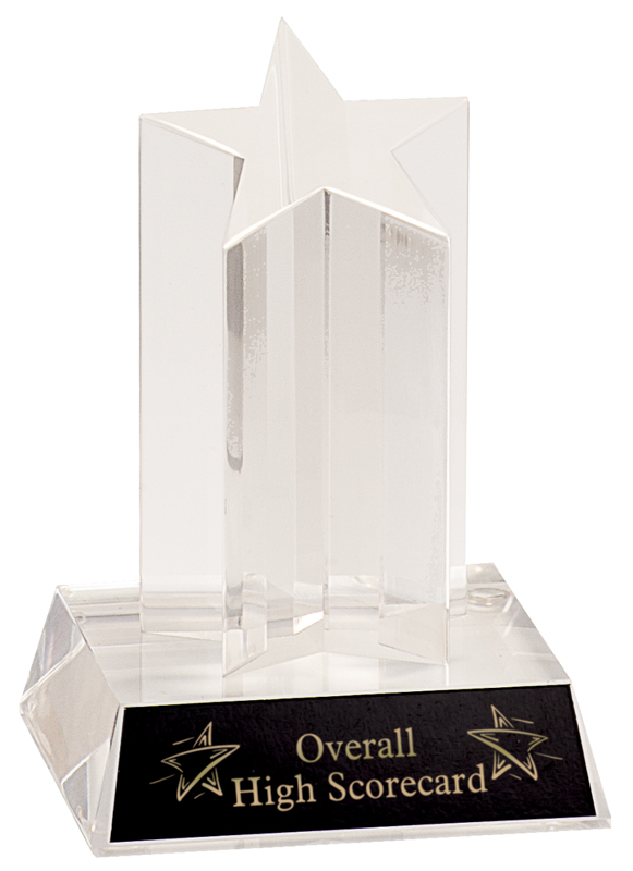 Single star column acrylic award - ASC5