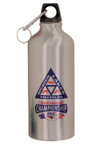 20 oz. aluminum water bottle with two lids and carabiner - SB20