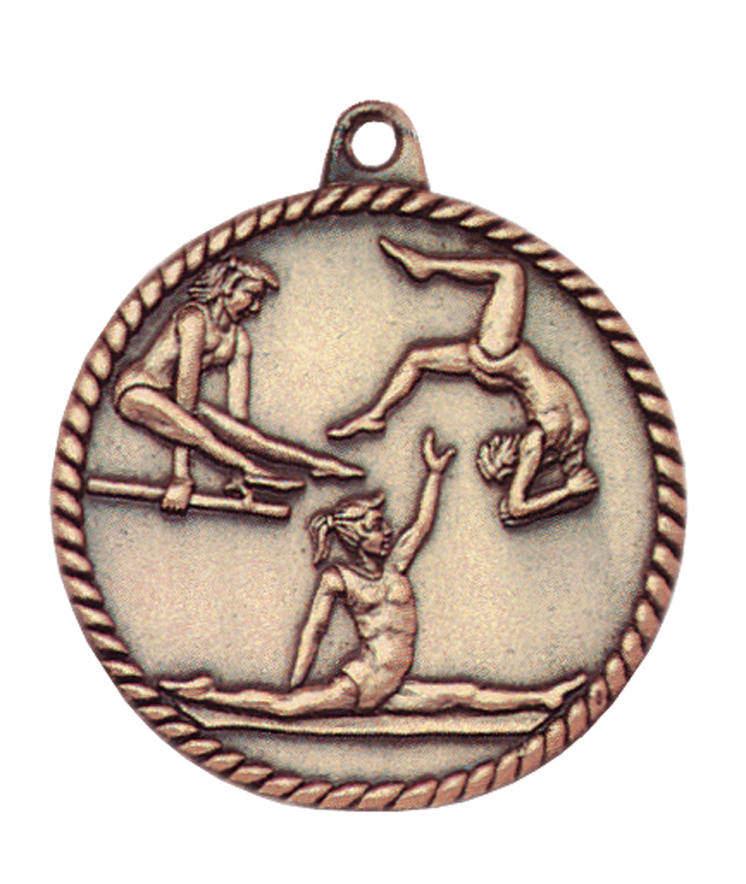 2 inch high relief bronze medal - HR700G
