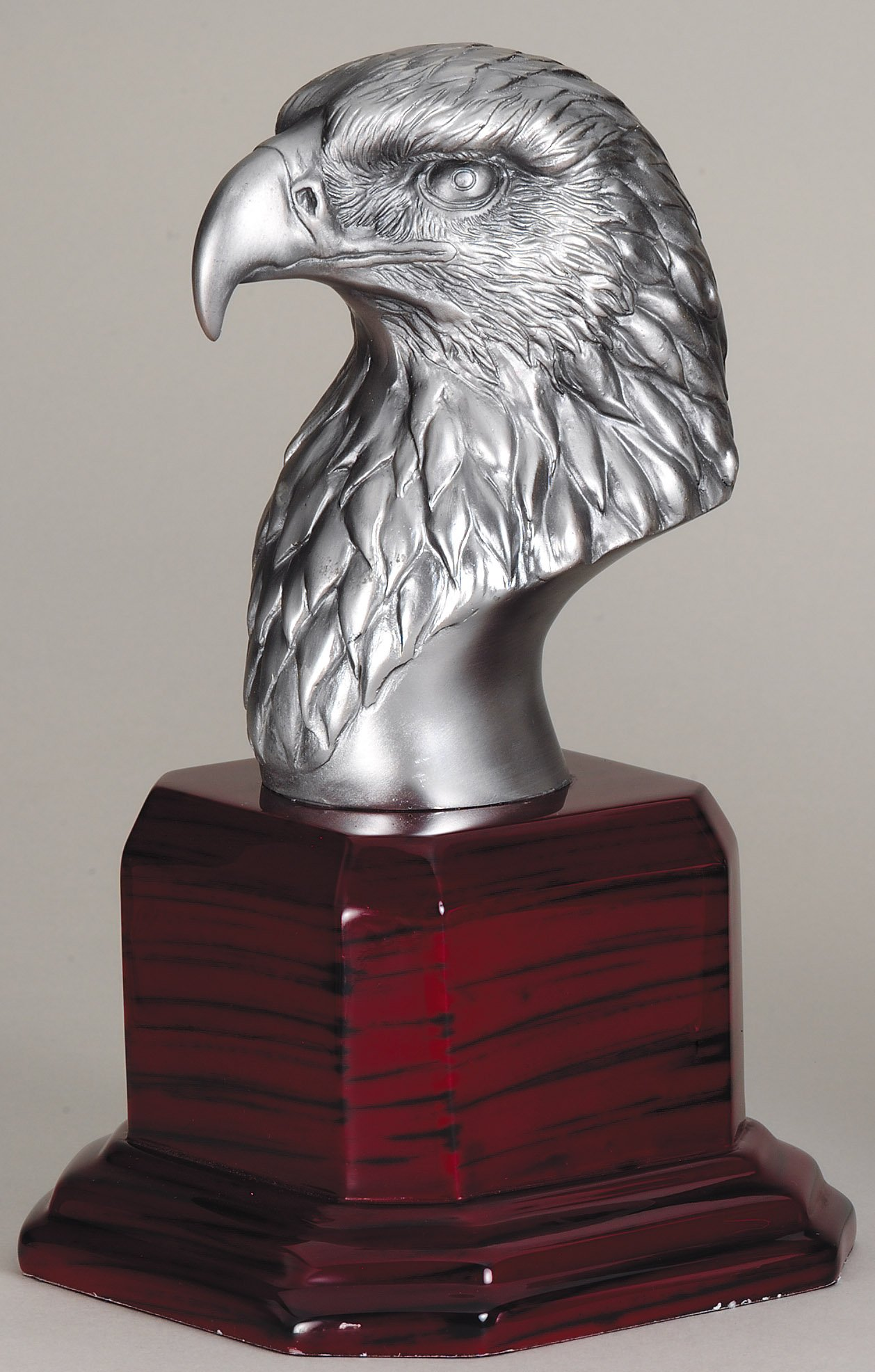 8.5 inch American eagle head and rosewood base - AE210