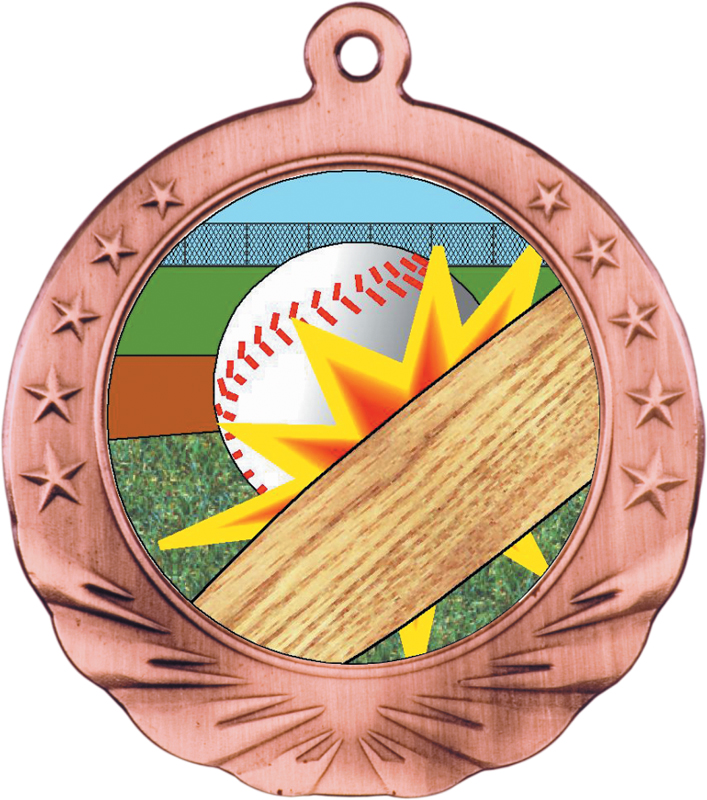 2.75 inch bronze motion medal- MTN01B