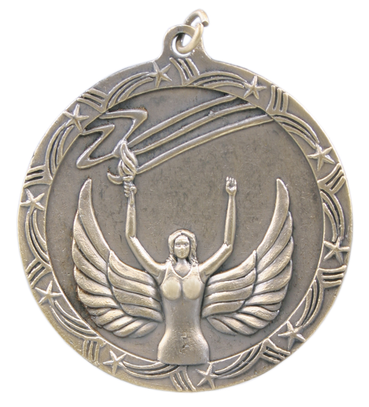 2.5 inch shooting star medal - ST58G