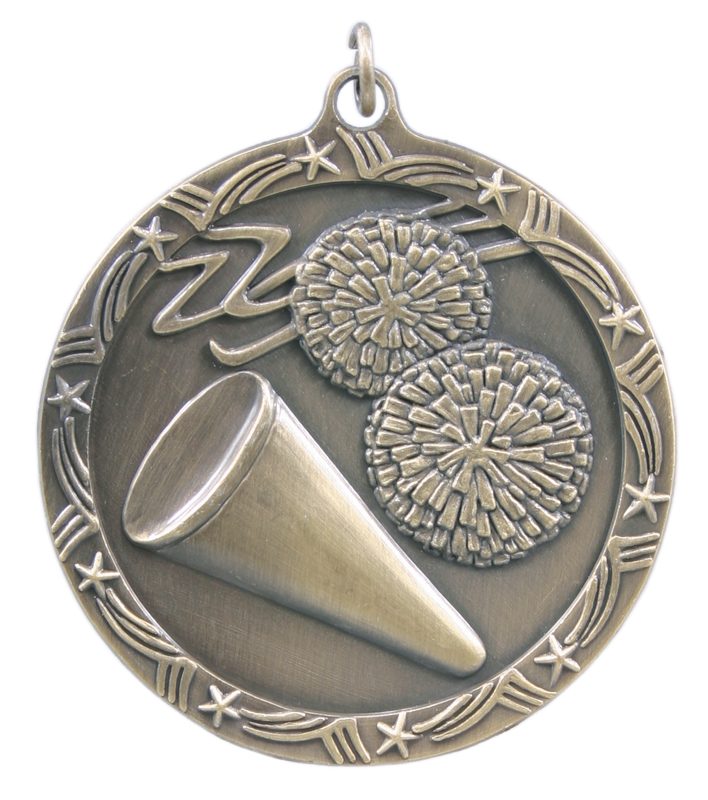 2.5 inch bronze shooting star medal - ST58B