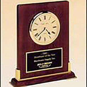 Clock award on rosewood - BC899