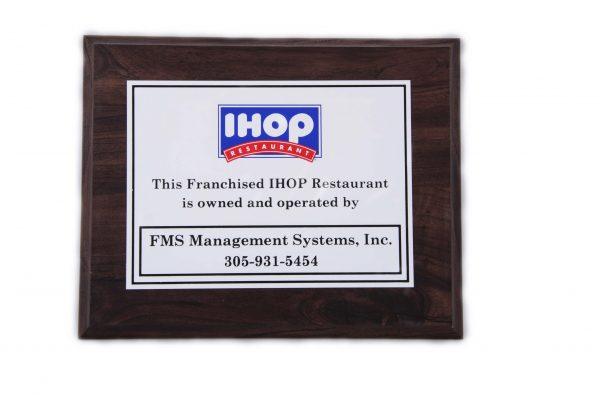 8'' x 10'' oak wood finished plaque - P810