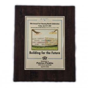 12'' x 15'' oak wood plaque - P1215