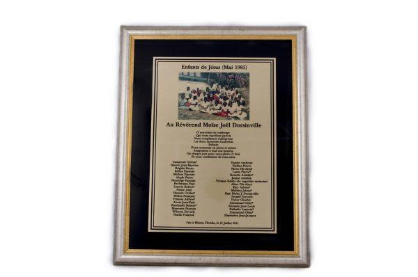 Framed plaque with black backdrop - 391418