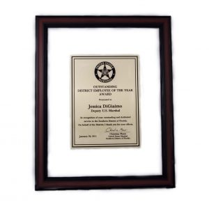 Clear frame plaque - MCF Series