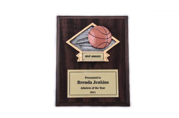 7'' x 9'' oak wood plaque with resin - 3-D 79 Series
