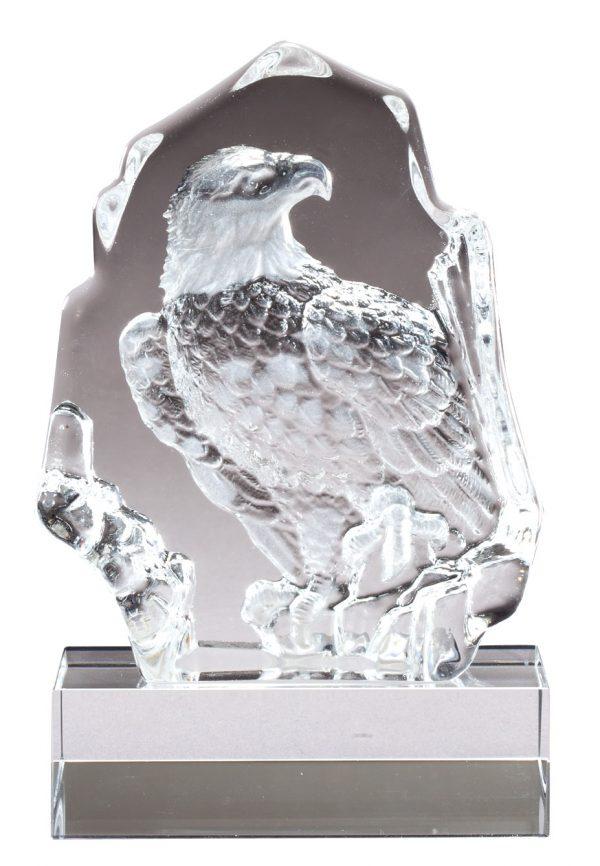 Sculpted crystal eagle award - CRY235