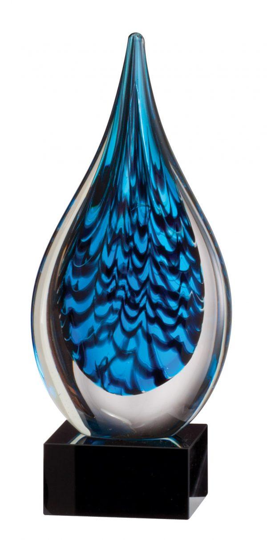Black and blue art glass award - GLSC40