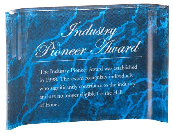Blue marble acrylic crescent award - ACC46BM