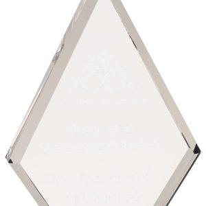 Clear diamond acrylic award - BAC032