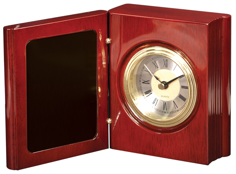 5.5 inch rosewood piano finished book clock - T140