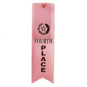 2'' x 8'' 4th place ribbon with string - RIB04