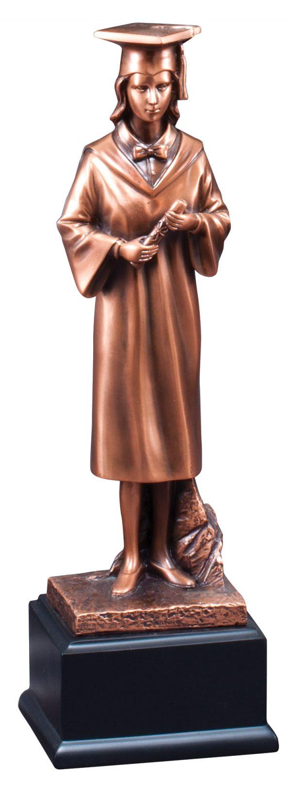 12 inch female graduate sculpture - RFB260