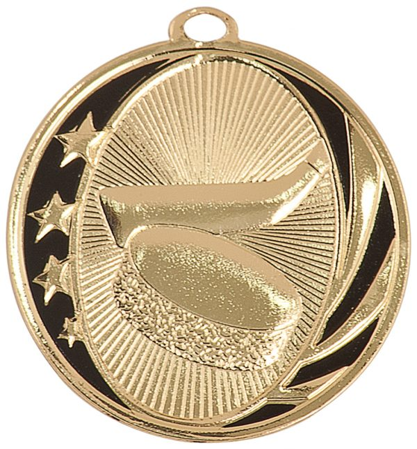 2 inch antique bronze and black medallion- MS701B