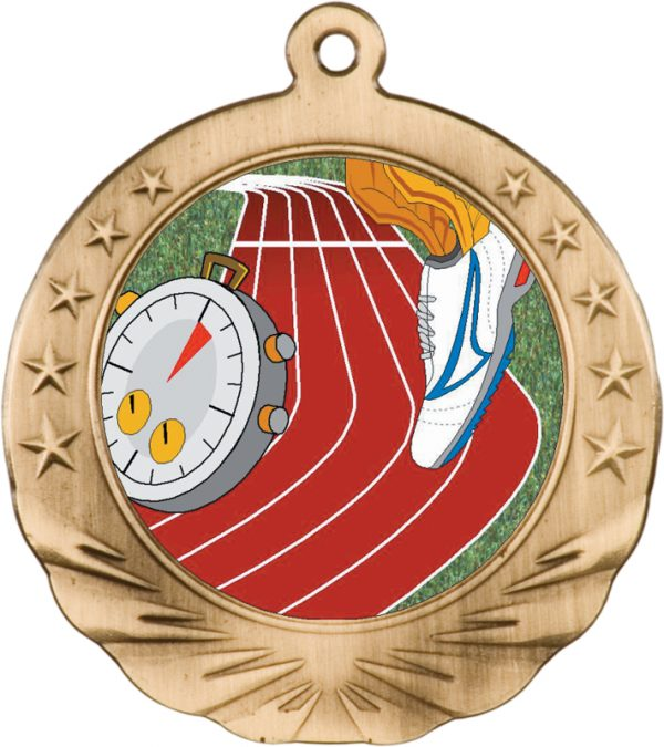 2.75 inch silver motion medal - MTN01S