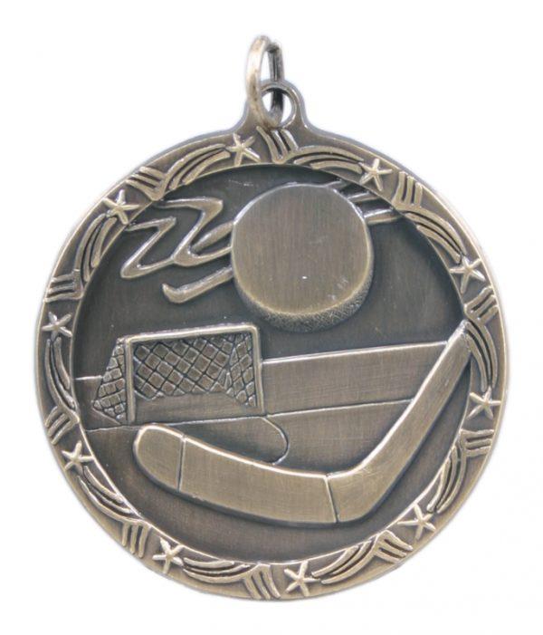 1.75 inch bronze shooting star medal - ST08B