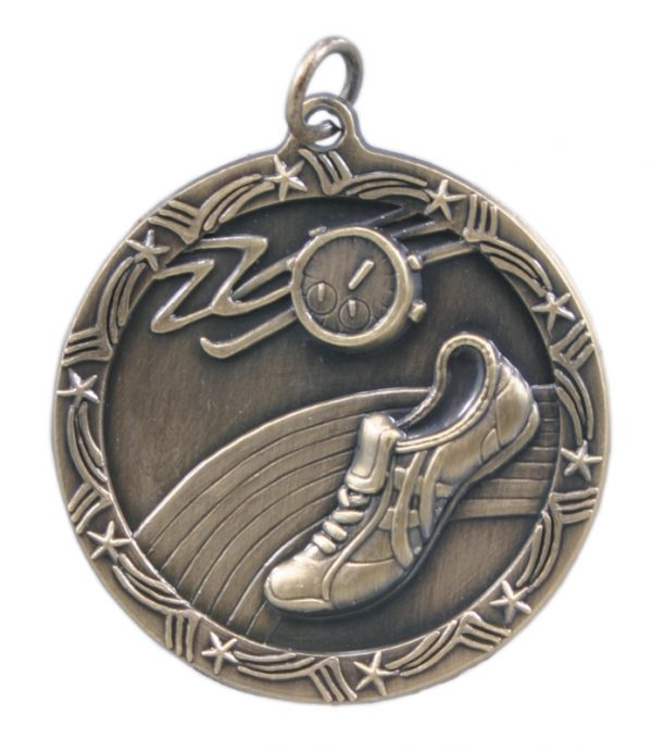 1.75 inch gold shooting star medal - ST08G