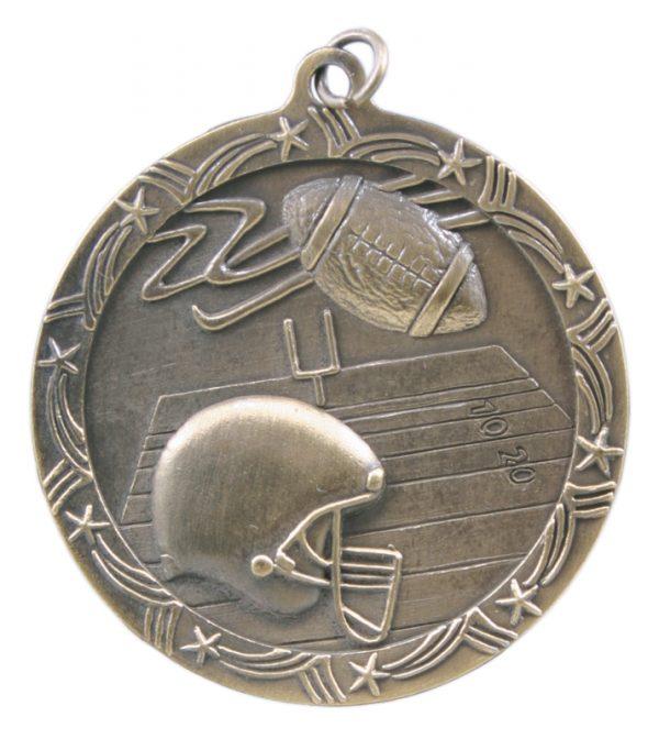 2.5 inch bronze shooting star medal - ST58B