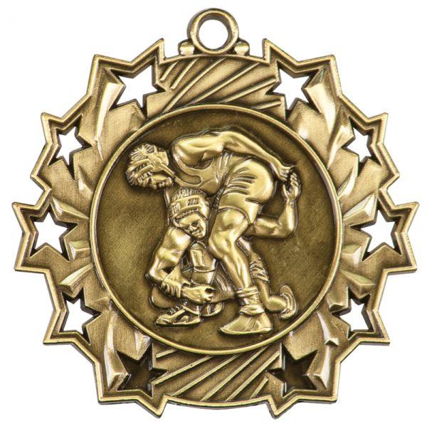 2.25 inch ten star medals - TS400B