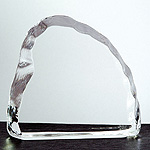 4.75'' x 4.5'' optical crystal iceberg award - ICE03